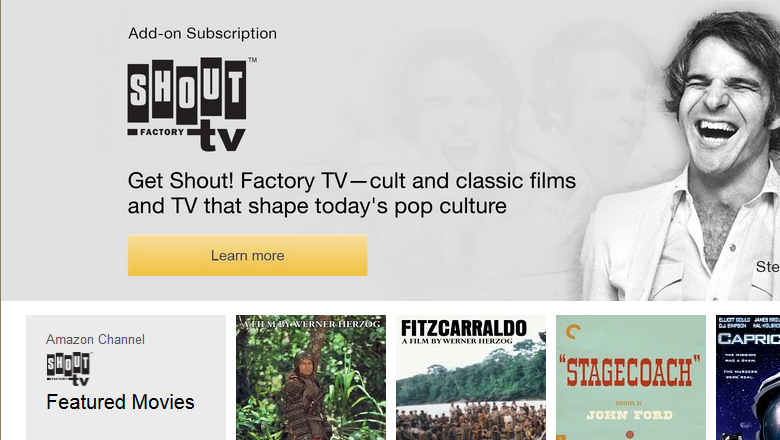 New Ways To Watch Shout! Factory TV